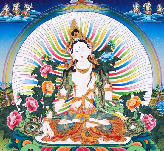 Tara, embodiment of the goodness within all of us, you exist in the nirmanakaya as the rising full moon. Help me to see clearly and to communicate goodness to suffering beings.